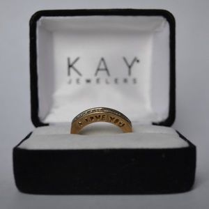 14 k Yellow Gold 'I LOVE YOU' ring with diamonds